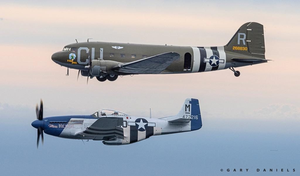 Commemorative Air Force, D-Day Squadron Aircraft Participate